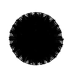 Stroke spiral stamp 72 vector