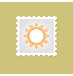 Sun stamp vector
