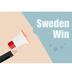 Sweden win Flat design business vector