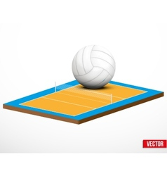 Symbol of a volleyball game and field vector image