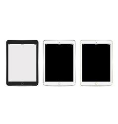 Tablet set for background app mockup vector