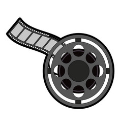 Tape reel icon image vector