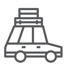 travel car line icon travel and tourism vector image