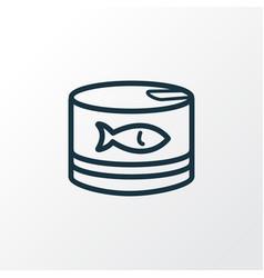 tuna can icon line symbol premium quality vector image