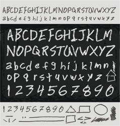 Unique handwritten letters vector