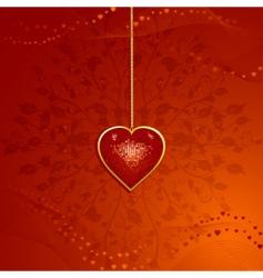 valentine heart pendant vector image
