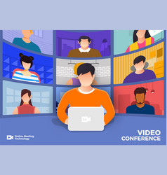 video conference 20 vector image