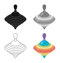 whirligig cartoon icon for web and vector image