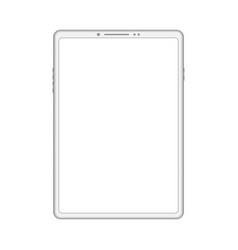 white digital tablet vector image