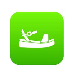 women sandale icon digital green vector image