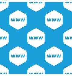 WWW hexagon pattern vector