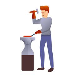 Young blacksmith icon cartoon style vector