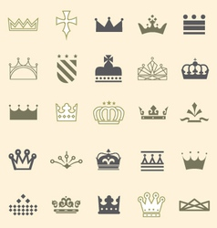 Crowns and Tiaras and Shields vector image vector image