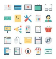 Digital Marketing Icons 2 vector image vector image