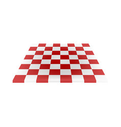 empty chess board in red and white design vector image vector image