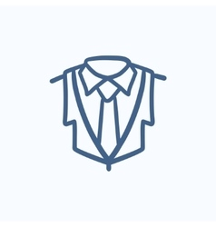 Male suit sketch icon vector image vector image