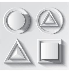 Realistic white geometrical shape set vector image vector image