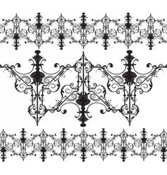 Vintage gothic ornament pattern elements vector