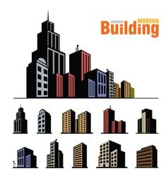 building set vector image vector image