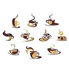 Different coffee cups vector image