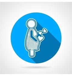 Maternity round icon vector image