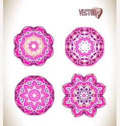 pink watercolor set vector image