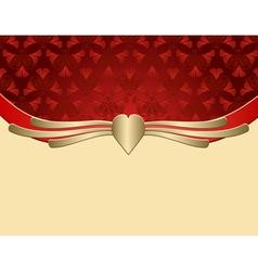 red vintage frame vector image