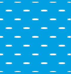 ribbon banner pattern seamless blue vector image