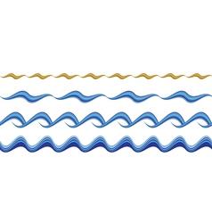 Seamless wavy borders vector image vector image