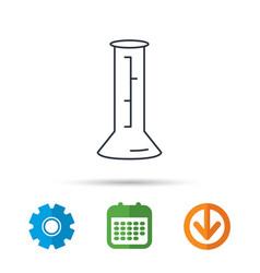 Beaker icon laboratory flask sign vector