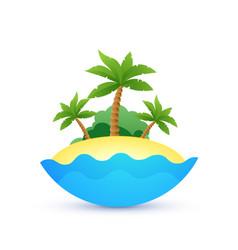 cartoon landscape of tropic island vector image vector image