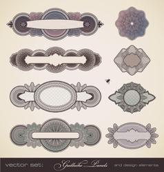 guilloche panels vector image vector image