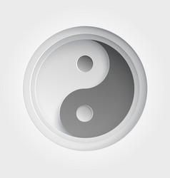 paper art of ying yang vector image