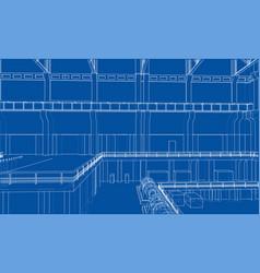 warehouse sketch vector image vector image