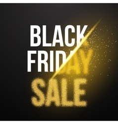 Black Friday Sale Gold Explosion Poster Black vector image vector image