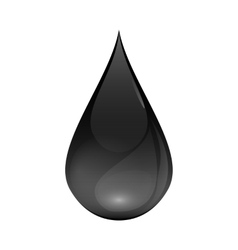 Brent Oil Drop black icon isolated on white vector image