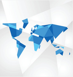 Facet world map vector image