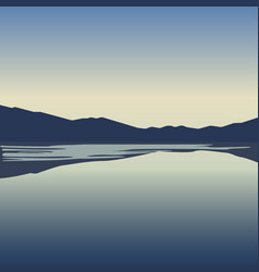 landscape with blue mountains near lake vector image vector image