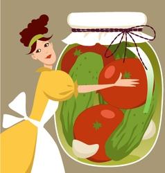 Pickled vegetables vector image vector image