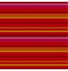red color sweater pattern with stripe vector image