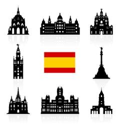 Spain Travel Landmarks Symbol vector image vector image