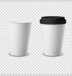 3d realistic disposable opened and closed vector image