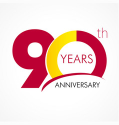 90 years anniversary logo vector