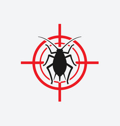 aphid icon red target vector image