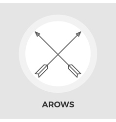 Arows Flat Icon vector image