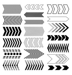 arrow set modern arrow design linear arrow set vector image