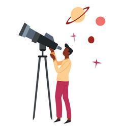 Astronomy science hobor profession man vector