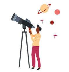 Astronomy science hobor profession man with vector