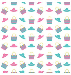 Beach bag hat pattern vector