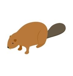 Beaver icon isometric 3d style vector